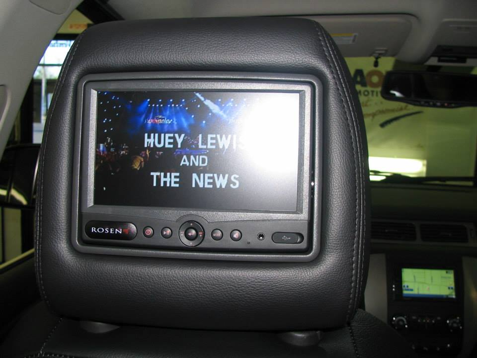 car video monitor in headrest